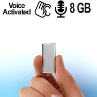Micro SPY-Recorder, Audiowanze (VAS) 8 GB