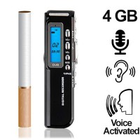 Mini-Voice-Recorder, 4 GB, bis 600 Std. (voice-activated)
