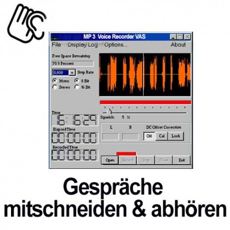 MP3 - Aufnahmesoftware (Voice activated)